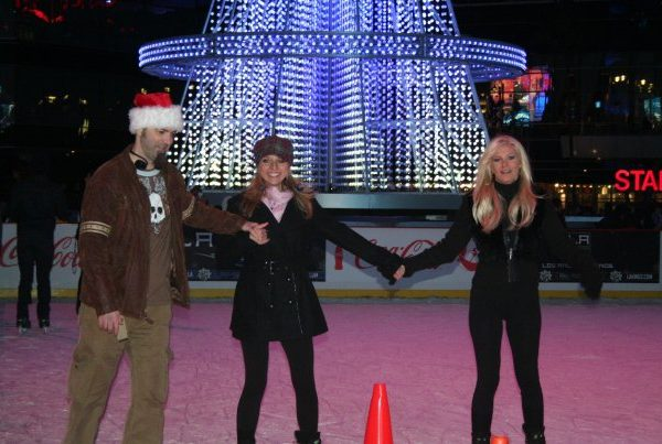 Annual outdoor iceskating in Los Angeles